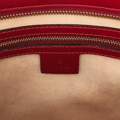 guccissima tote bag red